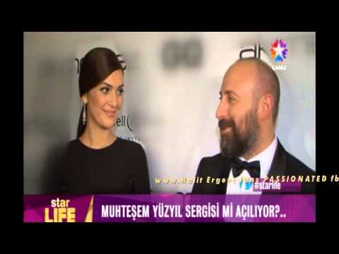Halit Ergenc & Berguzar Korel after ceremony of Awards ''GQ Men of the Year'' 12/11/2014