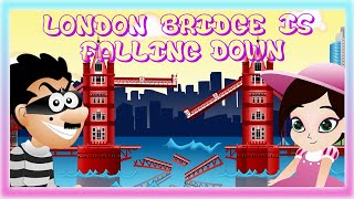 getlinkyoutube.com-LONDON BRIDGE IS FALLING DOWN | Nursery Rhyme Express | Animation | Sing Along | Childrens Song