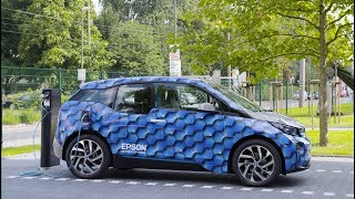 Car Wrapping an Electric-powered BMW i3