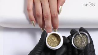 getlinkyoutube.com-Złoty efekt chromu :: MetalManix Light Gold Indigo :: Efekt lustra na paznokciach :: Chrome nails