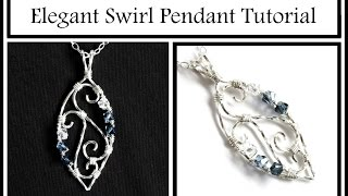 getlinkyoutube.com-Jewelry Tutorial : Elegant Swirl Pendant Part 1 - Wire Wrapping for Beginners