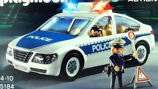 getlinkyoutube.com-Playmobil Police car Polizei  (5184) unboxing City Action Police Car with 2 Police officers