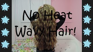 getlinkyoutube.com-No Heat Wavy Hair Tutorial!