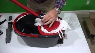 getlinkyoutube.com-Easy Wring Spin Mop & Bucket System Unboxing