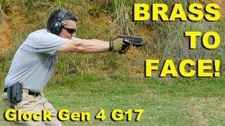 getlinkyoutube.com-Brass To Face! Glock Gen 4 G17 9mm Ejection Examined