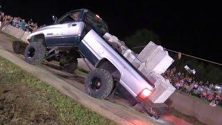 getlinkyoutube.com-TUG OF WAR GONE WRONG - Dodge Truck Bends in Half!