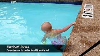 getlinkyoutube.com-Baby Elizabeth Swims Across Pool