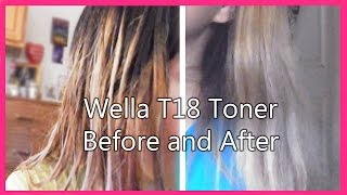 getlinkyoutube.com-Wella Toner T18 Before and After