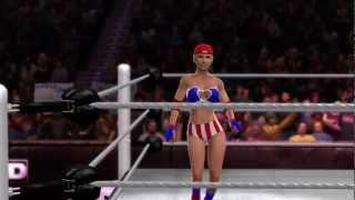 WWE'12 CAW Naomi vs Megan