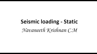 getlinkyoutube.com-Seismic static Loading in Staad Pro V8i