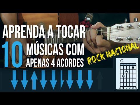 APRENDA 10 M�SICAS COM APENAS 4 ACORDES (ROCK NACIONAL)