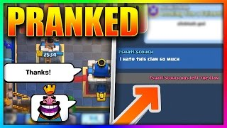 PRANKING MY CLAN with TROLL DECKS! (HE LEFT THE CLAN) | Clash Royale