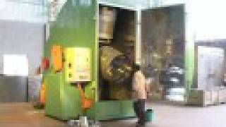 getlinkyoutube.com-Single Stationa Rotational Moulding Machie EN1000x2