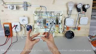 getlinkyoutube.com-Montaż Rozdzielni Elektrycznej #5 Średnie i Duże Mieszkanie z SPD i RCD