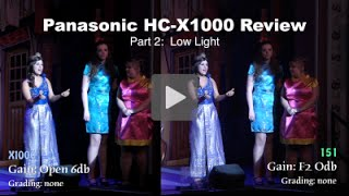 getlinkyoutube.com-Panasonic HC-X1000 Review: Part 2 - Low Light test shots at a Panto