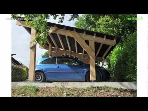 construction abri voiture
