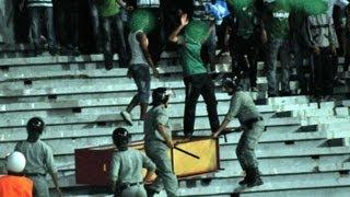 getlinkyoutube.com-Ultras Eagles vs Cops (Raja vs Eniymba) A.C.A.B