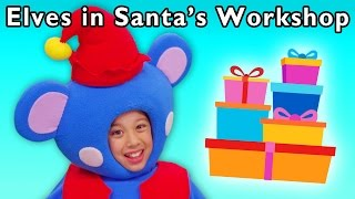 getlinkyoutube.com-Christmas Present Party | Elves in Santa's Workshop and More | Baby Songs from Mother Goose Club!