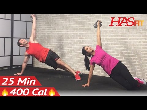 25 Min Kettlebell Workout: Kettlebell Workouts for Fat Loss & Strength Training Exercises Men Women