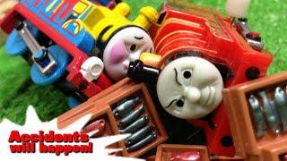 """トーマス じこはおこるさ Tomy Plarail Thomas """"accidents will happen!"""""""