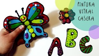 getlinkyoutube.com-Manualidades para Niños: Como Hacer PINTURA de FALSO VITRAL by ART Tv