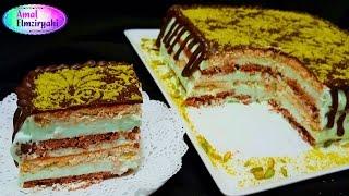 getlinkyoutube.com-اكلير كيك ( كيكة طباقات البسكوت) Eclair Cake