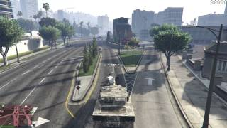 getlinkyoutube.com-GTA V PC - #40 - Cargobob + Rhino Tank = Sant