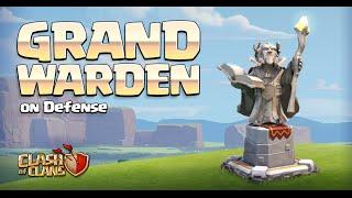getlinkyoutube.com-Clash of Clans - New Hero on DEFENSE! Grand Warden Gameplay! (Town Hall 11 Update)