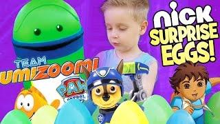 getlinkyoutube.com-Team Umizoomi Surprise Eggs ft. Paw Patrol Toys Bubble Guppies Toys & Team Umizoomi Toys by KidCity