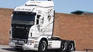 """getlinkyoutube.com-Scania R500 """"White Pearl""""with a loud V8"""