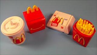 getlinkyoutube.com-1999 FOOD FOOLERS SET OF 4 McDONALDS HAPPY MEAL KIDS TOYS VIDEO REVIEW