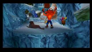 getlinkyoutube.com-Crash Bandicoot 2 segreto del livello Snow Go 102%