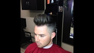 getlinkyoutube.com-How To Cut A Modern Pompadour Haircut | Step by Step Tutorial
