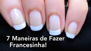 getlinkyoutube.com-7 Maneiras de Fazer Unhas Francesinha! Passo-a-Passo! 7 Ways to do French Nails!