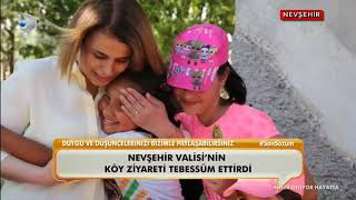 Nevşehir Kaşkışla köyünde İlk kez Vali gördüler