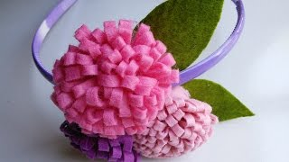 getlinkyoutube.com-Felt Craft Tutorial | Flower Craft for Headbands | HandiWorks #44