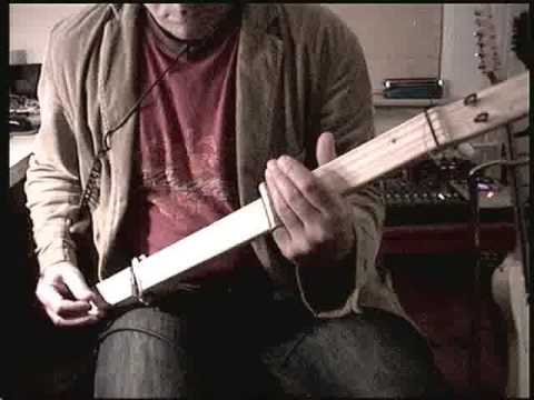 World's most basic electric guitar!!! 4 string self made guitar