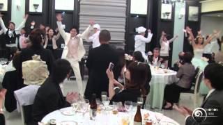 "getlinkyoutube.com-Flashmob Surprise Wedding フラッシュモブ サプライズ 結婚式披露宴 グッキー Greeeen "" GOOD LUCKY!!!!! """