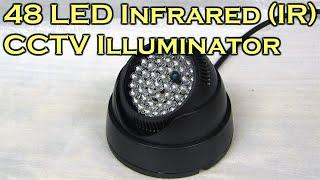 getlinkyoutube.com-48 LED Infrared (IR) Illuminator for CCTV Night Vision Camera