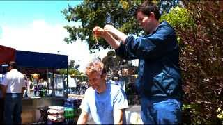 getlinkyoutube.com-Water balloon popping on my head at 6900 fps - San Mateo Maker Faire 2010