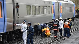 getlinkyoutube.com-「スーパーとかち」から白煙 トマム駅 JR石勝線(2015/10/09) 北海道新聞