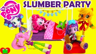 getlinkyoutube.com-My Little Pony Slumber Party Playsets with Equestria Girls Minis Dolls