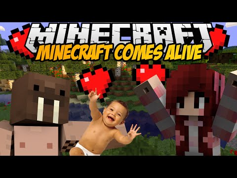 Minecraft mody! DZIECI RODZINA SEX!   MINECRAFT COMES ALIVE