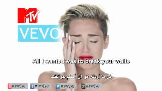 getlinkyoutube.com-Miley Cyrus - Wrecking Ball مترجمة