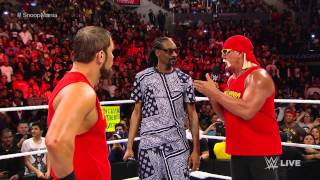 getlinkyoutube.com-Snoop Dogg and Hulk Hogan contend with AxelMania: Raw, March 23, 2015