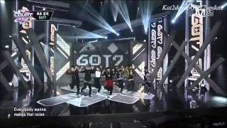 getlinkyoutube.com-[HD] 140116 GOT7 - Backstage ღ Intro + Follow Me ღ Girls Girls Girls ღ Encore [DEBUT M! Countdown]
