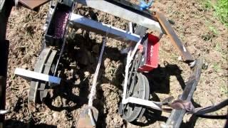 getlinkyoutube.com-2 ROW PLANTER  OUT OF SINGLE PUSH PLANTER ,FOR ATV OR TRACTOR