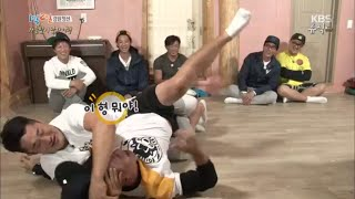 getlinkyoutube.com-[kbsworld] 1박2일 - 추성훈+김동현, 1박멤버들 기술 시전 초토화!. 20150920