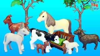 getlinkyoutube.com-Playmobil Farm Animals Nursery Building Set Toy Build Review