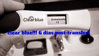 Clear blue 6 dias post transfer! mellizos???